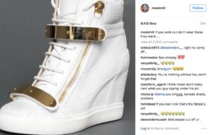 white sneakers meek dissed nicki about