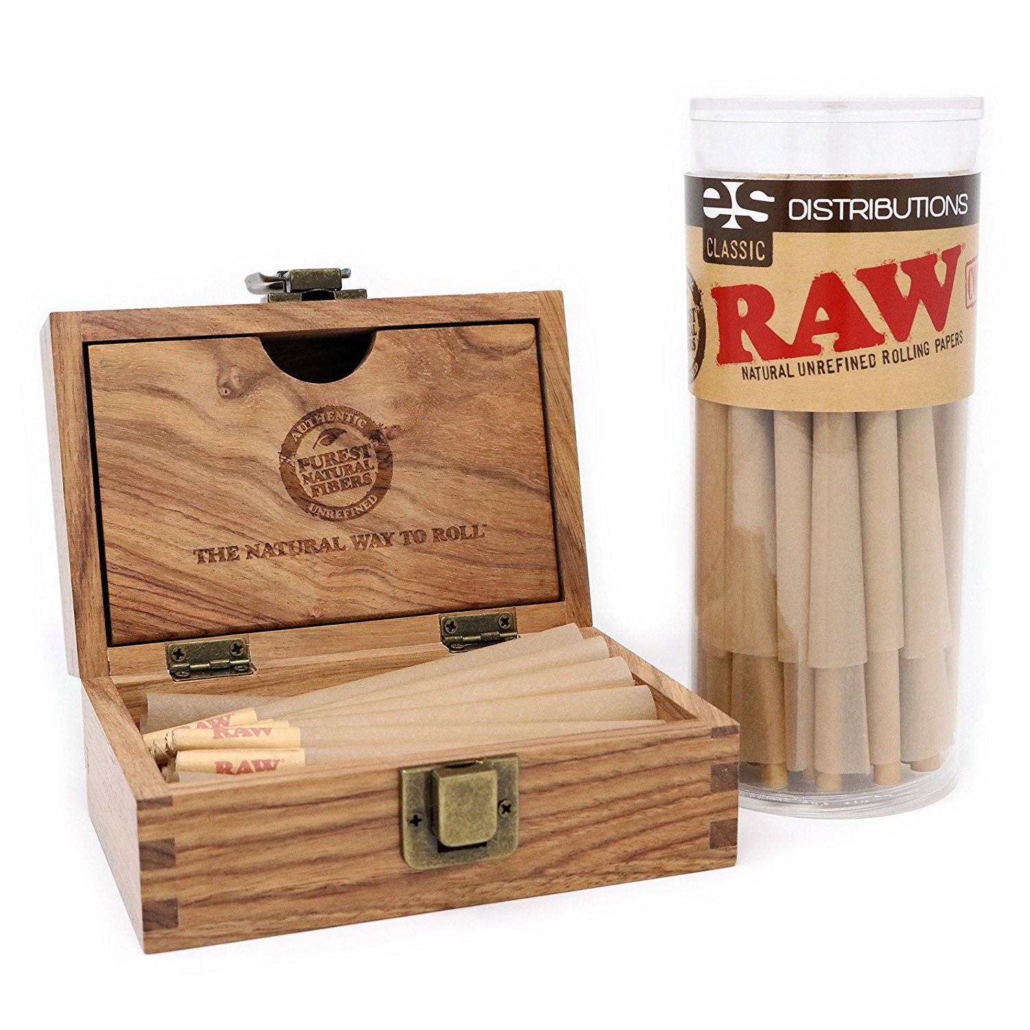 Raw Classic King Size Pre Rolled Cones With Filter Tips