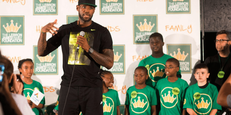 lebron james at risk school