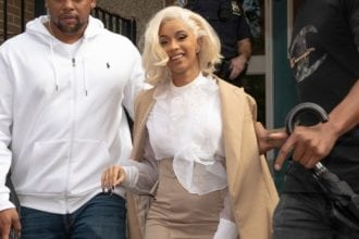 cardi b coming from court house