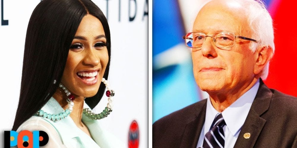 Rapper Cardi B Sits Down With Bernie Sanders