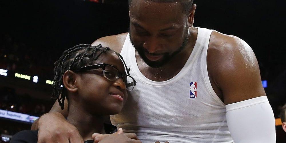 Dwayne Wade Defends His Son Zion