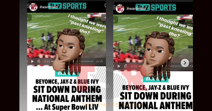 Jay Z & Beyonce Sit During NFL National Anthem