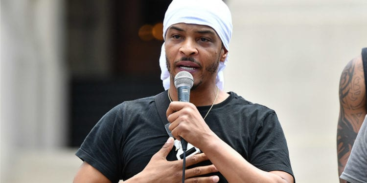 T.I. Joins Protesters In Atlant