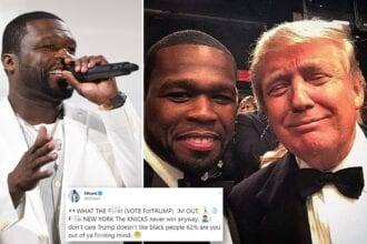 Is 50 Cent Voting For Trump. What is going on