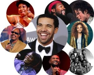 Drake in company of legends